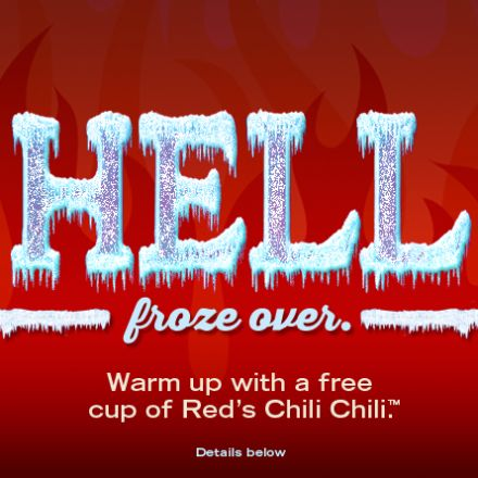 Red Robin: Free Chili for 1st 100 Customers  Today only 2/26/13!