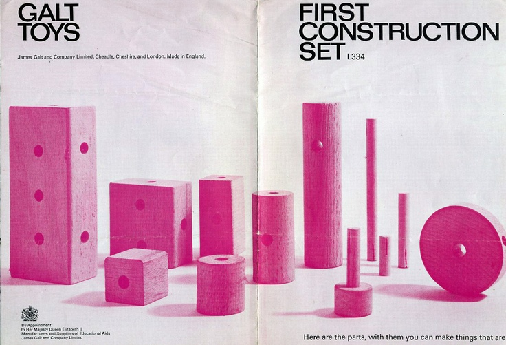 Galt Toys cover from A5 catalogue.  Beautiful design from the early 70s.