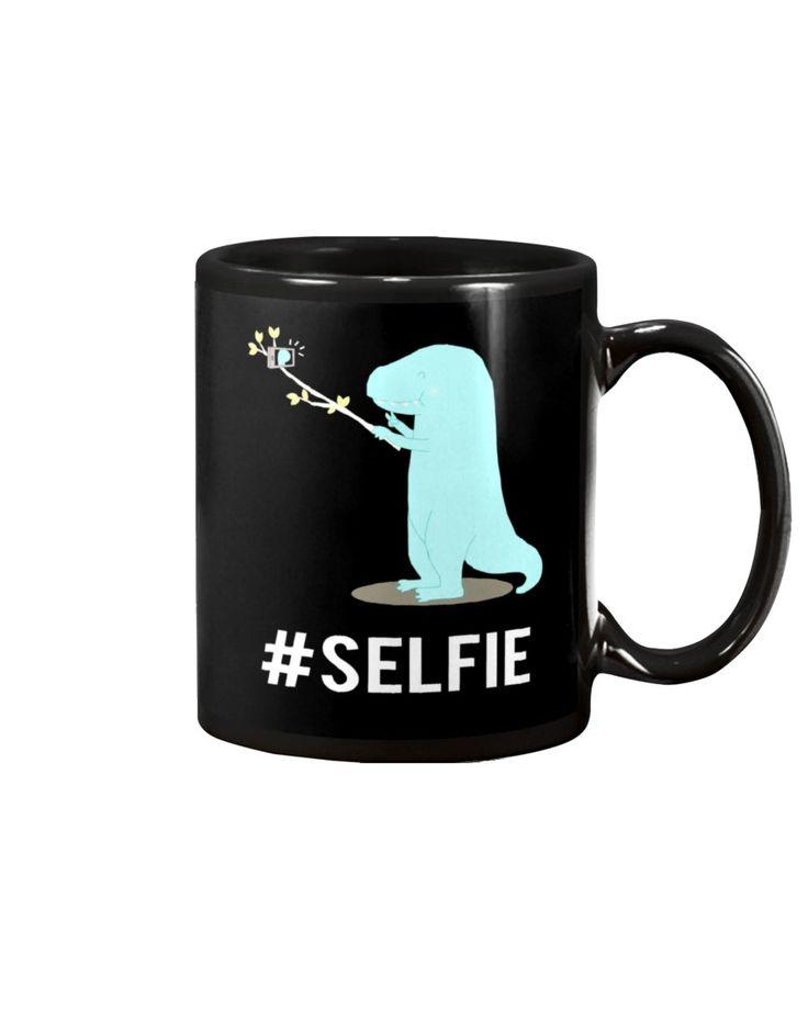 Classic T-Shirt, Mug, Ladies Flowy Tank, Hoodies Sweatshirt, Crewneck Sweatshirt for T-rex Dinosaur Selfie Stick Branch Cute Hashtag Funny Shirt