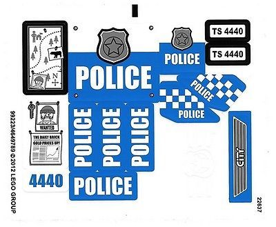 LEGO CITY Forest Police Station ~ Replacement STICKER SHEET for Set # 4440 NEW in Toys & Hobbies, Building Toys, LEGO | eBay