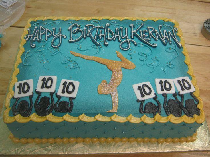 Gymnast Cake A Perfect 10 Girl Cakes Gymnastics