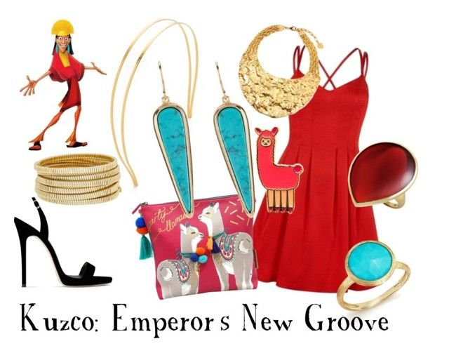 """Kuzco"" by sugarsop on Polyvore featuring Mrs. President & Co., Disaster Designs, Giuseppe Zanotti, Bagutta, Marco Bicego and Ippolita"