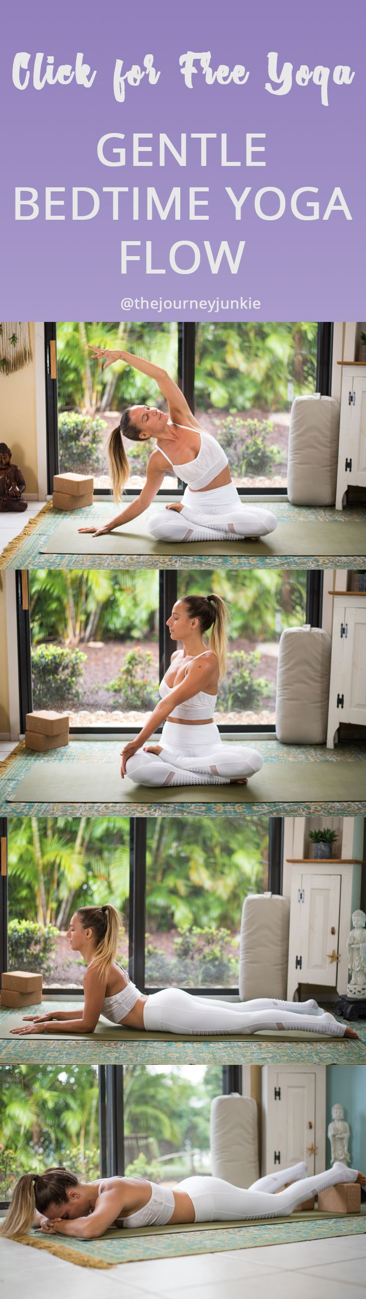 Bedtime Yoga Video: Gentle Slow Practice to Relax and Rest - Pin now, relax now, rest now, get to bed now!