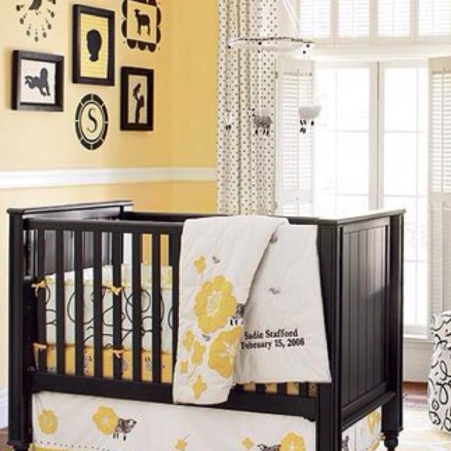 Yellow baby nursery