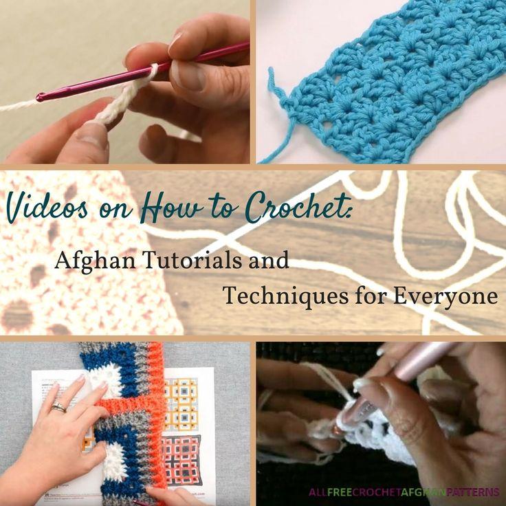 177 best Crochet Stitches Tutorials images on Pinterest | Afganos de ...