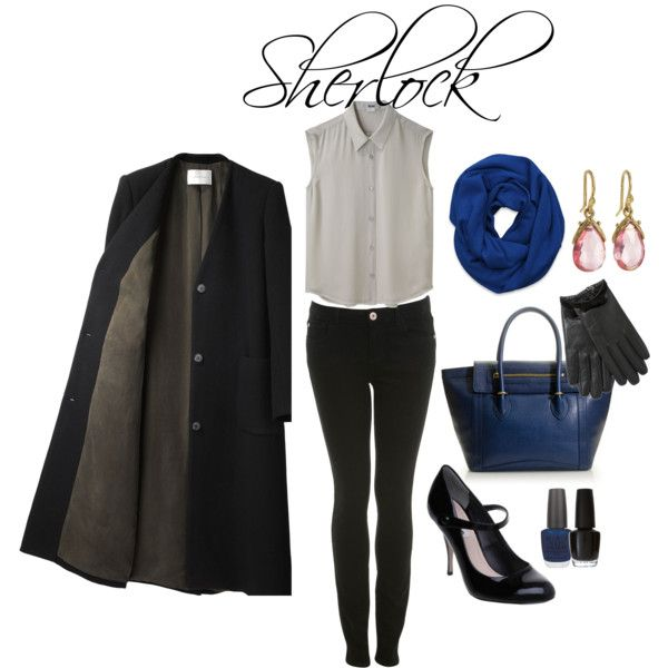 """""""Sherlock"""" by fangirlfashion on Polyvore. <--- No offence, but I'm pretty sure the term is SHElock."""
