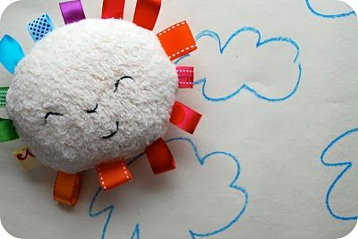 DIY ribbon baby softie teething toy
