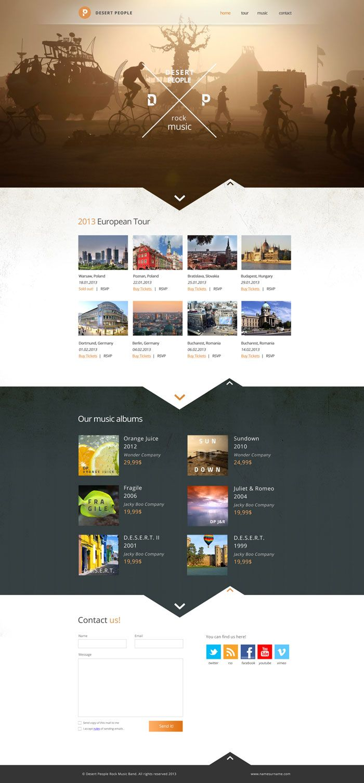 Desert People Band Website Layout Design Inspiration