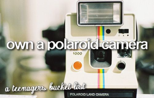 i want this, so i can take pictures of everything on my bucket list