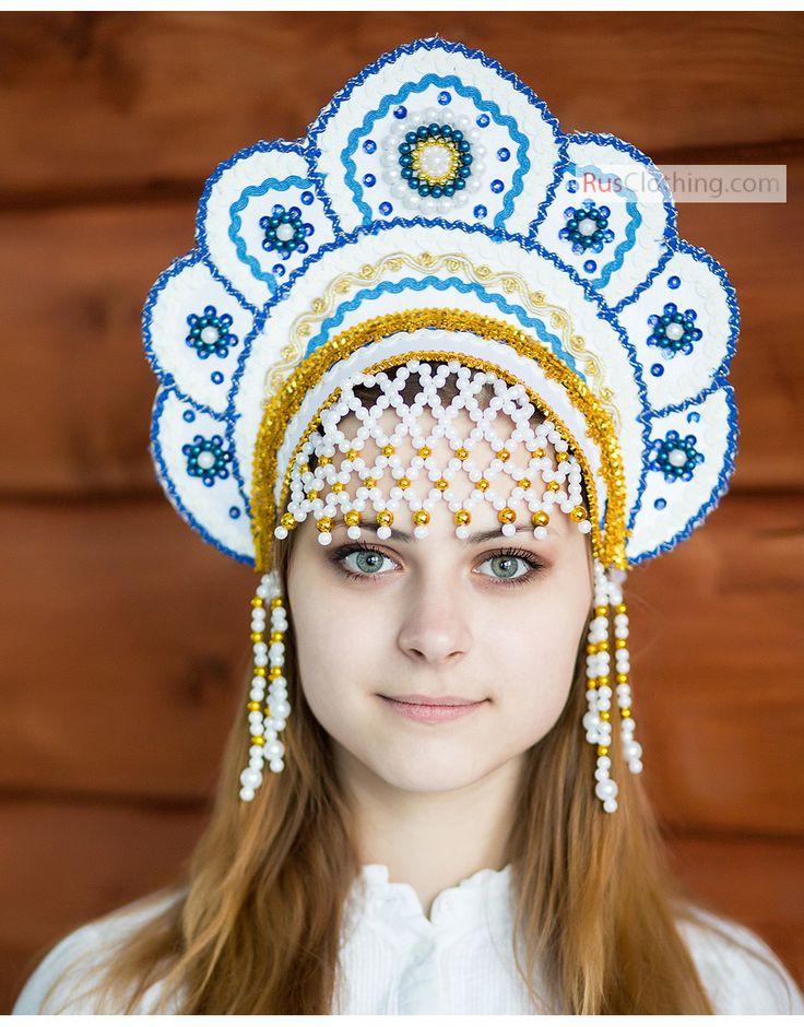 Russian tiara Kokoshnik ''Elena'' | RusClothing.com