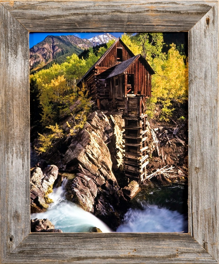 barnwood picture frames 16x20 rustic wood frame