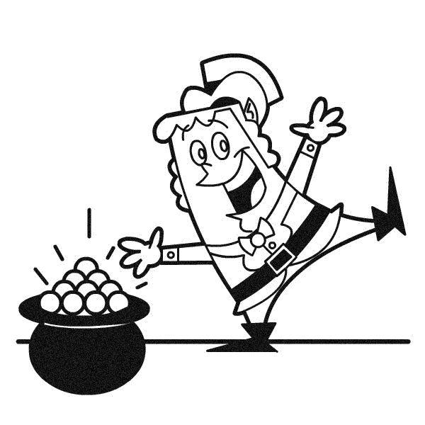 Draw a Leprechaun: Finish the Pot o' Gold