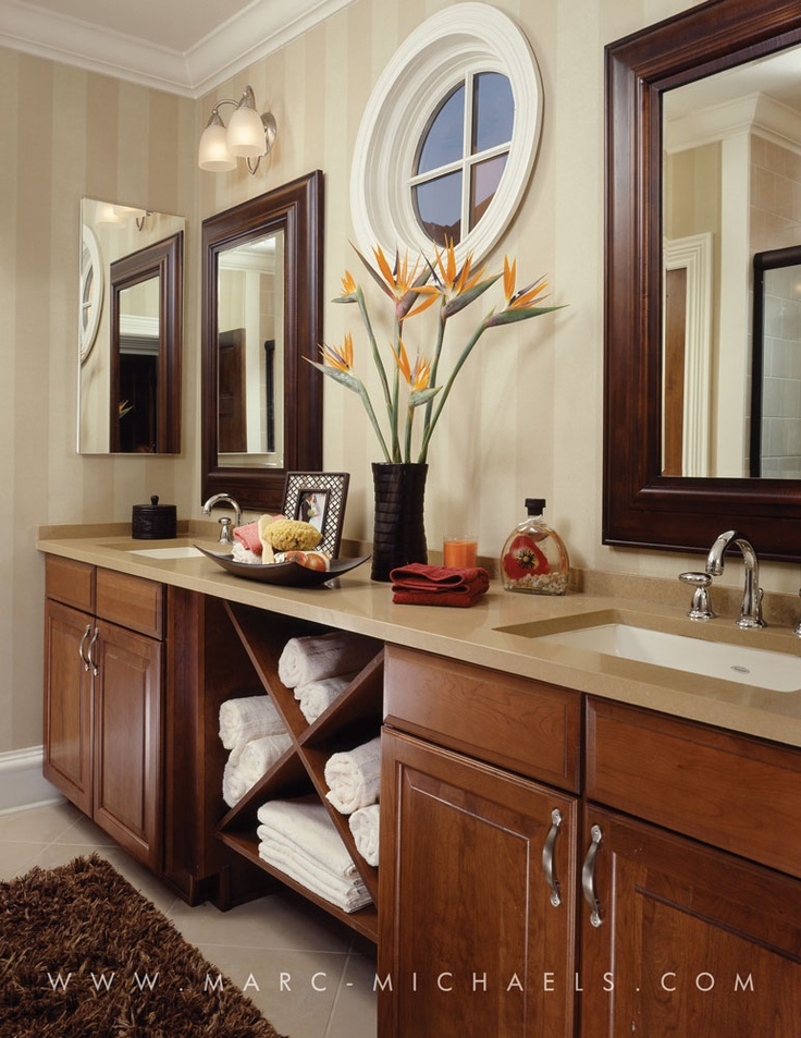 David Weekly Homes | Marc Michaels Interior Design, Inc. Stylish Bathroom  With Towel