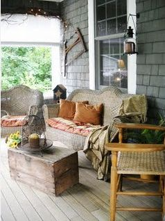 A true down-home Southern front porch. Come on up 'n sit a spell.....