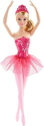 Barbie Fairytale Ballerina Doll, Pink - This Barbie doll is dressed to dance the day away in a stage-ready ballerina costume. Whether gracing the stage or pirouetting into a scene, she's ready for you to start the show! Barbie ballerina doll wears an attached bodice with delicate detail and a removable tutu in a sheer pink fabric. A ma...