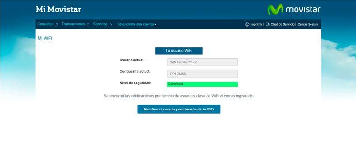 """A continuación, podrá ver su usuario y contraseña actual, si desea cambiar alguno de los dos, de clic en """"modifica tu usuario y contraseña de su wifi"""