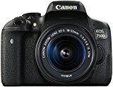 Canon EOS 750D SLR-Digitalkamera (24 Megapixel, APS-C CMOS-Sensor, WiFi, NFC, Full-HD) Kit inkl. 2x Objektive EF-S 18-55mm 1:3,5-5,6 IS STM und EF-S 55-250 1:4-5,6 IS STM schwarz