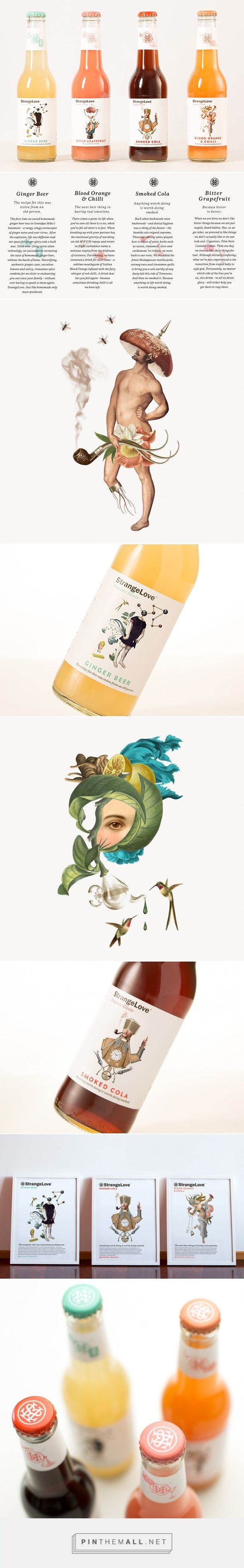Эликсир «Странная любовь Strange Love beverage packaging curated by Packaging Diva PD. Weird but I like it.