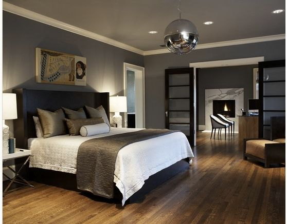 Best Dark Gray Walls And Hardwood Floors Gray Master Bedroom 640 x 480