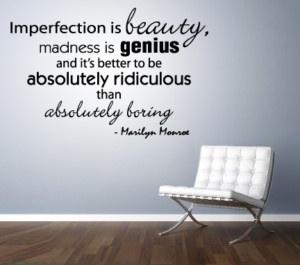 Marilyn Monroe Quote Wall Sticker