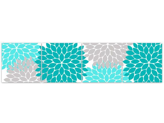 Home Decor Wall Art Turquoise Bedroom Decor by WallArtBoutique, $45.00