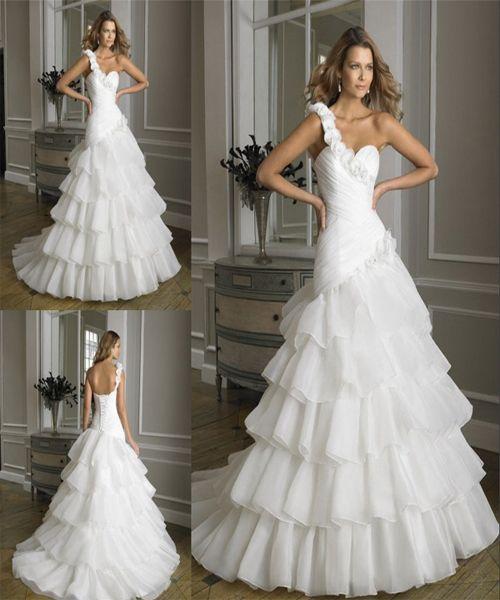 Best One-Shoulder-Wedding-Dress-2015