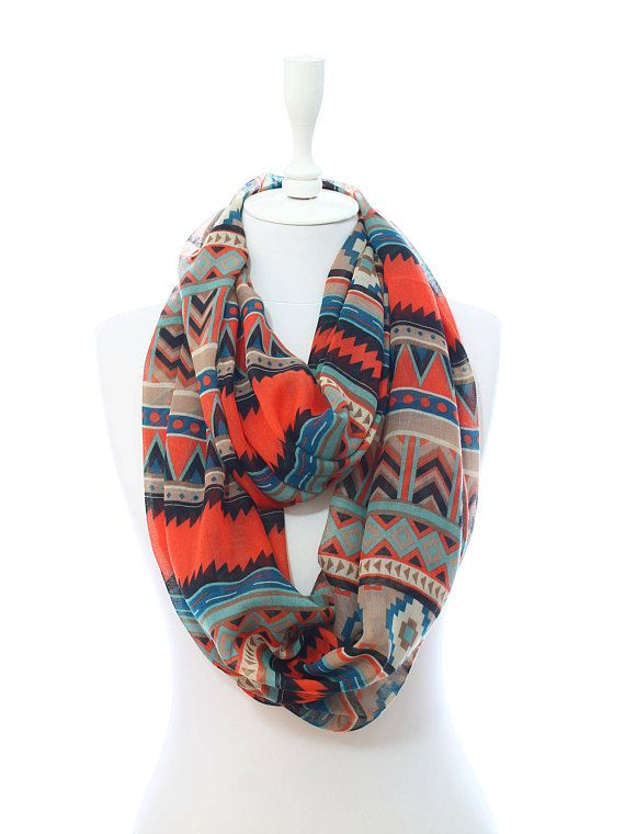 Tribal Southwestern Aztec Scarf Spring Summer Women Accessory