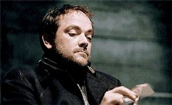 "Crowley: 5 year old - This is the funniest gif I have ever seen in my life. Also Sam the ""I'm so done"" parent helps a little in making it that way"