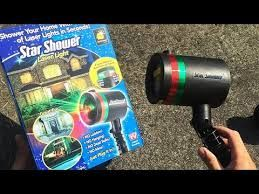 Easy to Set Up Outdoor Holiday Lights, Star Shower Laser Light  #starshower