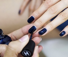 dark blueNail Polish, Fashion Style, Nails Colors, Manicures, Black Nails, Dark Blue Nails, Chanel Nails Polish, Nails Colours, Navy Nails
