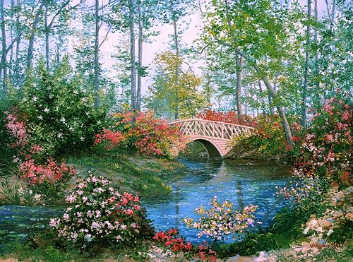 137 best images about art gardens on pinterest gardens for Cypress gardens mural