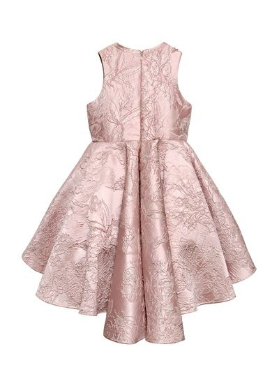 MISHKA AOKI EMBELLISHED FLORAL JACQUARD DRESS