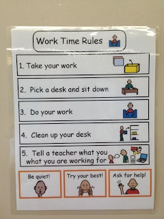 Work Stations in an Autism classroom