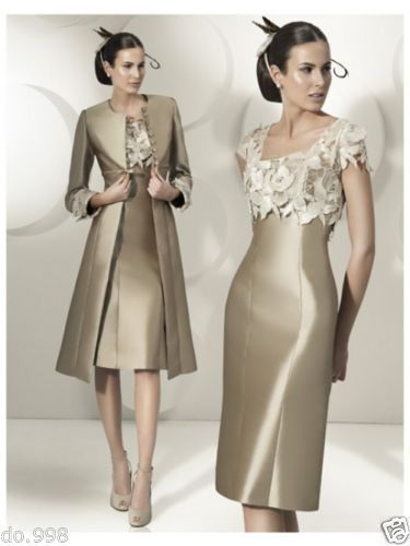 Wedding Bridal Dresses For Mother Formal Evening Prom Party Dresses With Jacket #Dress