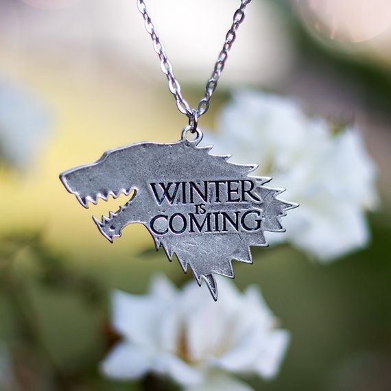 Game of thrones house STARK necklace arya jonh snow by Oki007