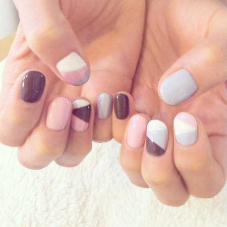 Pastel pink, blue, neutral and grey