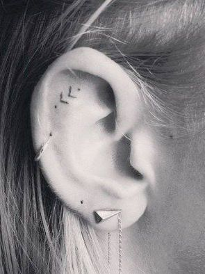 The newest way to pretty up your ears is with a tattoo gun, not jewellery—click through for all the Pinterest earspo you can handle.