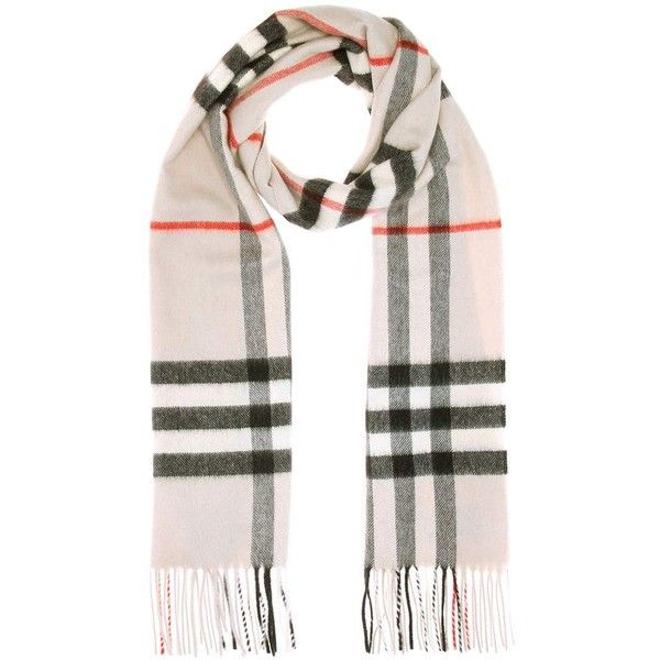 Burberry Printed Cashmere Scarf (1,010 BAM) ❤ liked on Polyvore featuring accessories, scarves, multicoloured, multi colored scarves, cashmere shawl, burberry scarves, colorful scarves and checkered scarves