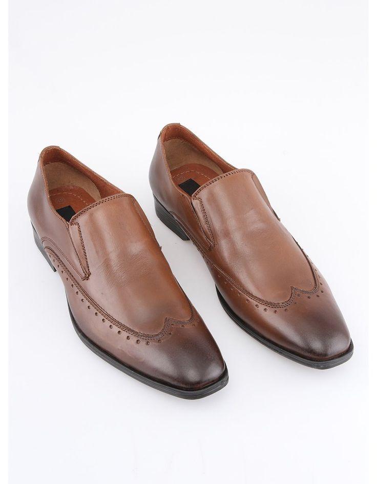 Dice - Hnědé kožené boty  Handin - 1