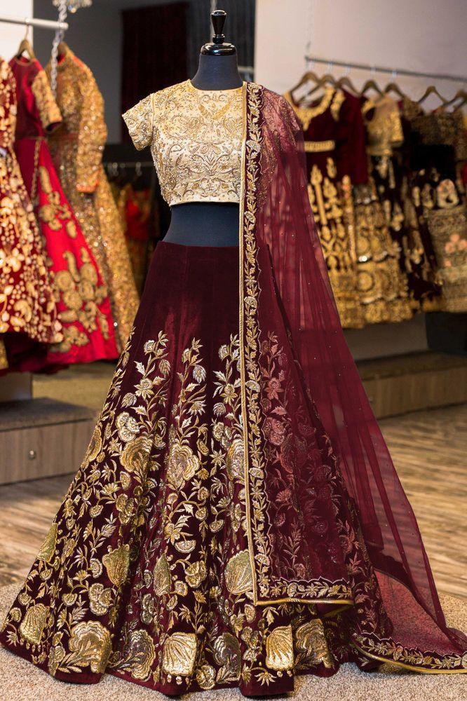 329c6d80740377 lehenga Indian wedding wear lengha choli dupatta set ghagra blouse bridal  dress #handmade #Choli