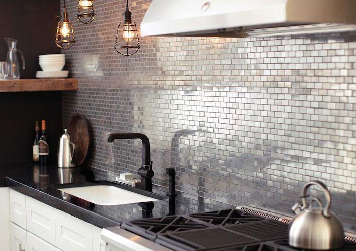 Mosaico de metal - Cocina Home Depot 02