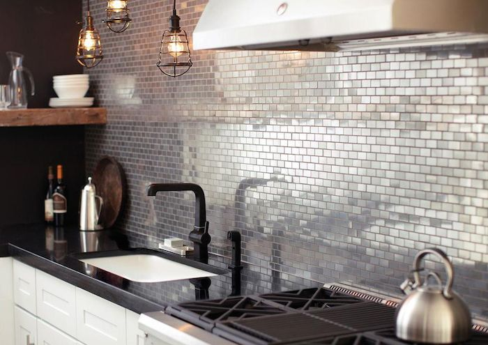 Interiors   Urban Metallic Kitchen - DustJacket Attic http://dustjacket-attic.com/2015/02/interiors-urban-metallic-kitchen.html/