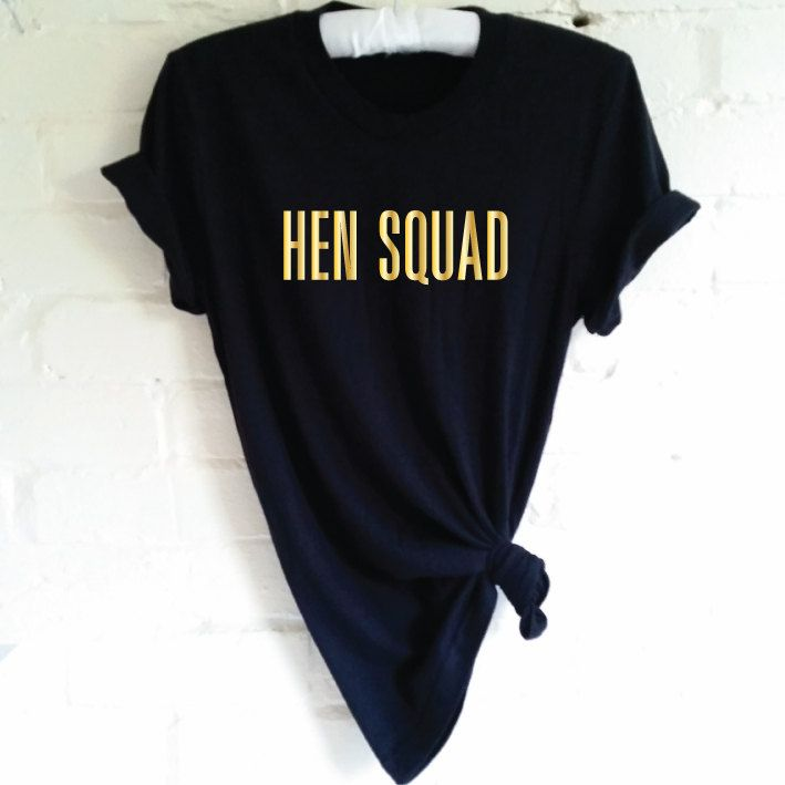 Hen Squad T-Shirt. Hen Party Shirt. Wedding Party Shirt. Bachelorette Party Shirt. Hen Shirt. Bridal Party Shirt. Bridal Shower. Hen T-Shirt by SoPinkUK on Etsy