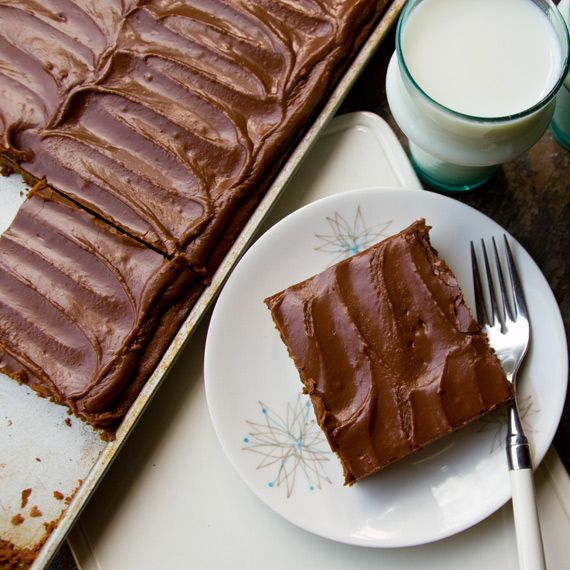 Nevada Women's Club member Elizabeth Castle says she got this recipe from her then 93-year-old aunt, Myrnie Dawson, of Princeton, IL. It really is a good find--the perfect balance between cakey/fudgey.