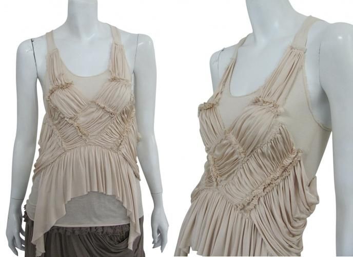 Top completely draped on the front, smooth back with oarsman shoulders on sale. #Women #Clothing #Fashion