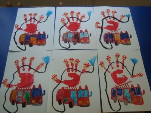 Directions On Handprint Fireman Art Craft For Preschoolers