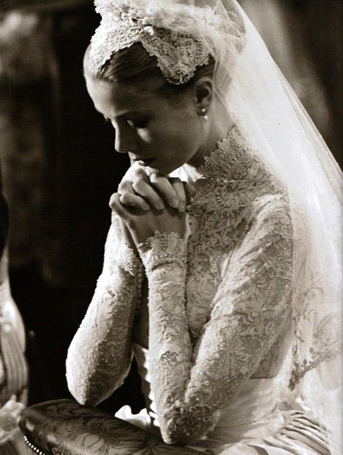 Grace Kelly on her Wedding Day to Prince Rainier Monaco on 19th April 1956.