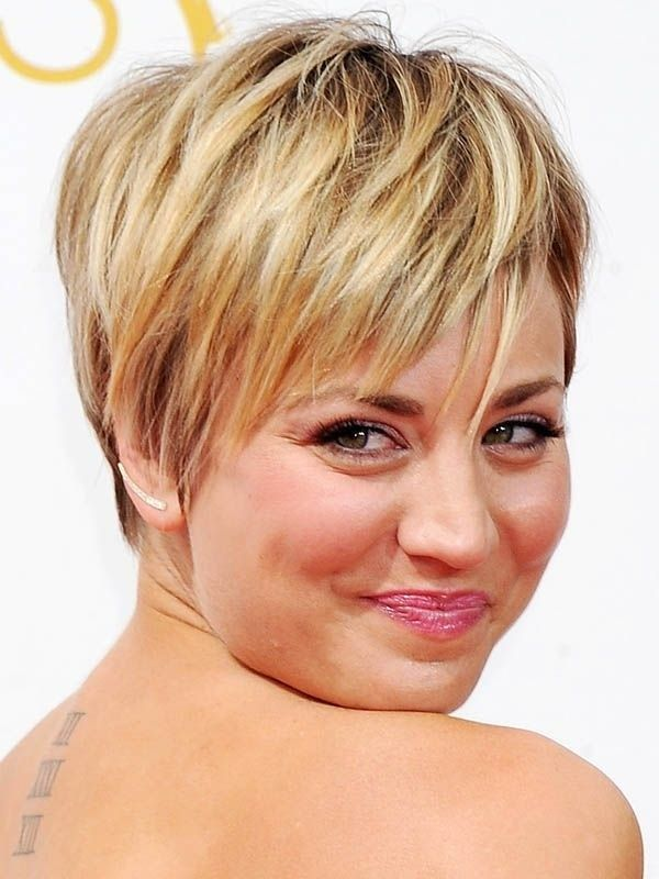 kaley cuoco short haircut photos | 18 Latest Short Layered Hairstyles: Short Hair Trends for 2015 ...