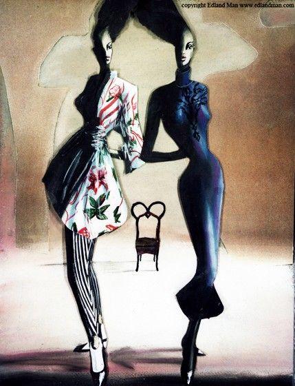 Edland Man exposeert 28 jaar mode-illustratie en fotografie | Independent Fashion Daily