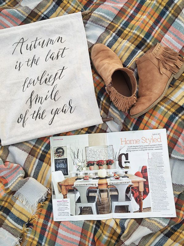 Liz Marie in Country Women Magazine - Fall Decor